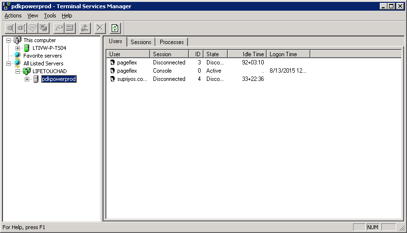 How to view/logoff remote desktop hung sessions – Microsoft Geek