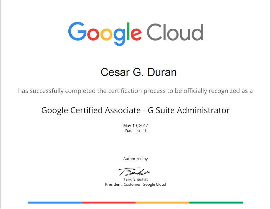 I Am Now G Suite Administrator Certified Microsoft Geek
