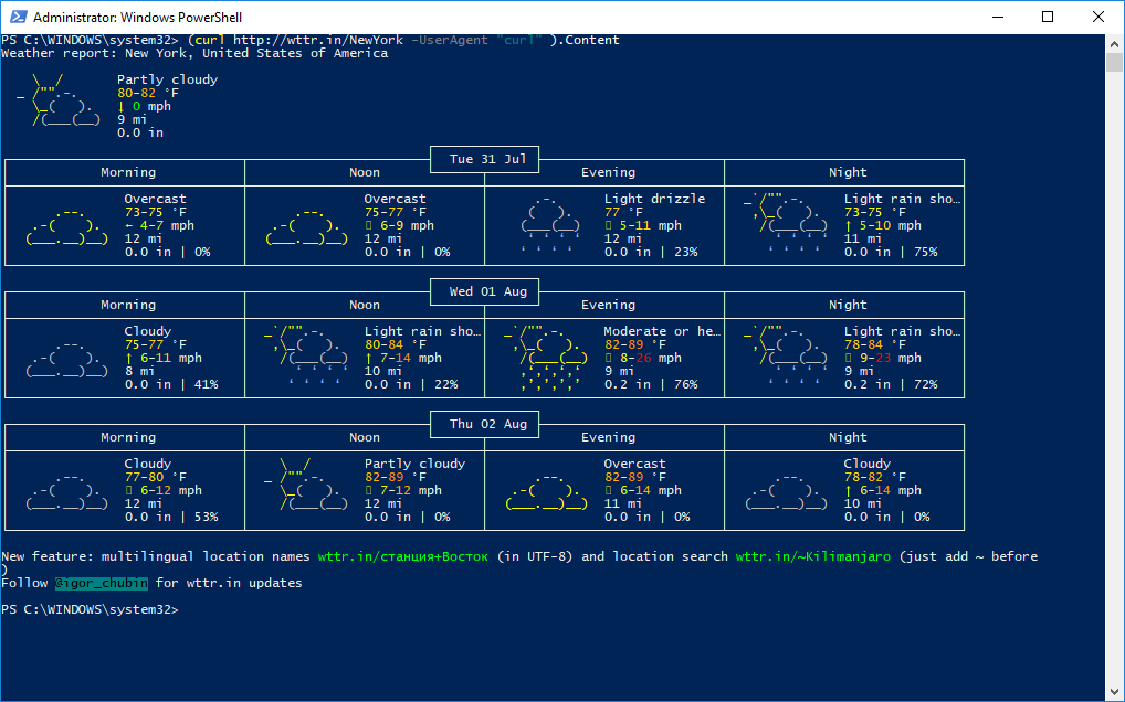 How to Get Weather Forecast In PowerShell – Microsoft Geek